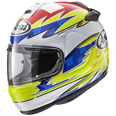 Arai Vector-2 Replica Aegerter Full Face Helmet - riderschoice.ca - Canada