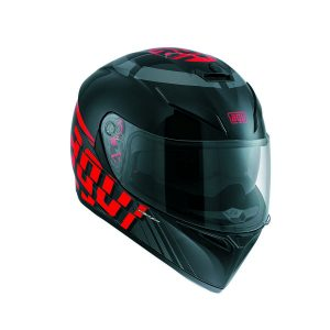 AGV K-3 SV Multi Myth Black Grey Red Full Face Helmet - Riderschoice.ca - Canada