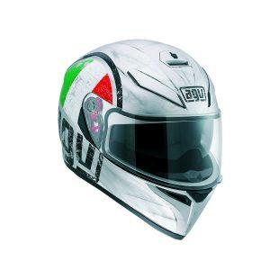 AGV K-3 SV Multi Scudetto Matte Silver Full Face Helmet - Riderschoice.ca - Canada