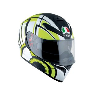 AGV K-3 SV Multi Avior Matte White - Lime Full Face Helmet