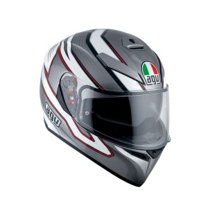 AGV K-3 SV Multi Mizar Dark Grey - White Full Face Helmet