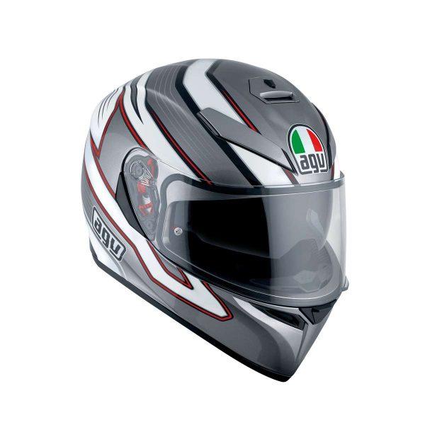 AGV K-3 SV Multi Mizar Dark Grey - White Full Face Helmet