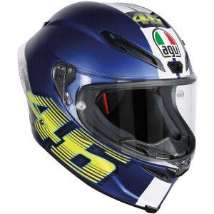 AGV Corsa R Top V46 Matte Blue Full Face Helmet - riderschoice.ca - Canada