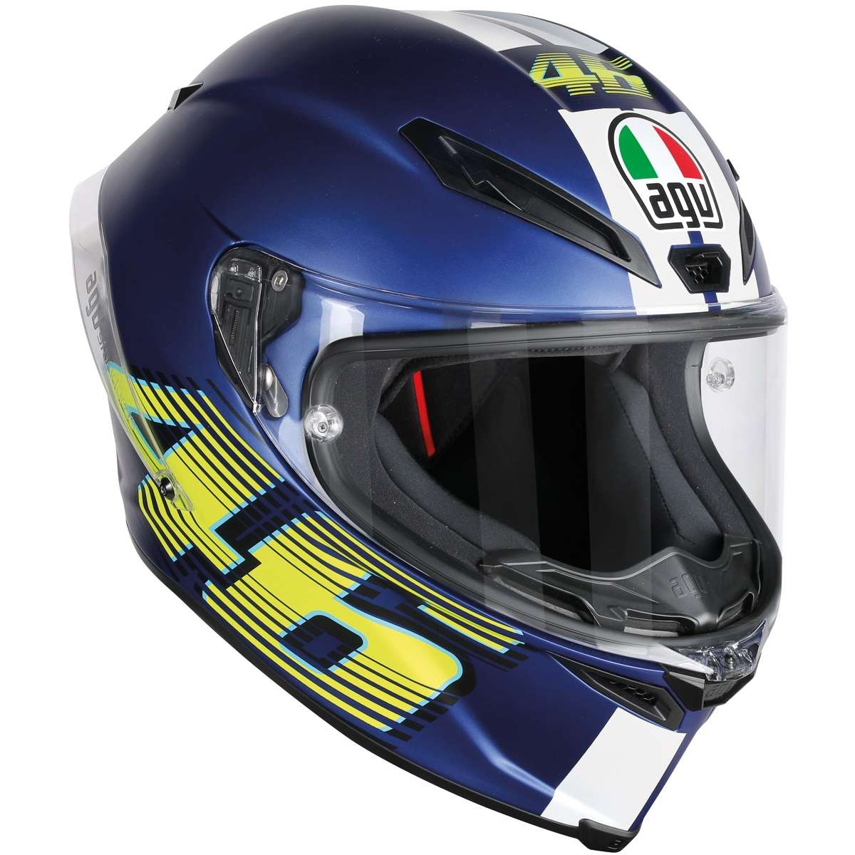 agv corsa r top v46 matte blue full face helmet riders choice come here ride anywhere. Black Bedroom Furniture Sets. Home Design Ideas